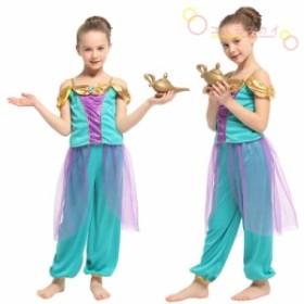 ハロウィン  コスプレ キッズ 子供用 アラビア コスチューム  2点セット ダンス衣装  ステージ仮装