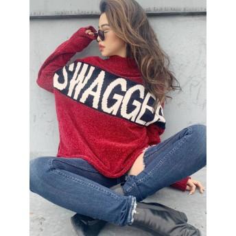 [GYDA]SWAGGERジャガードニットTOPS