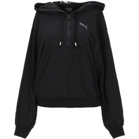 《期間限定セール開催中!》PUMA レディース スウェットシャツ ブラック XS コットン 54% / ポリエステル 46% / ナイロン / ポリウレタン