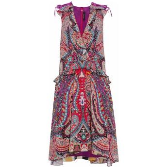 《期間限定 セール開催中》ETRO レディース ミニワンピース&ドレス フューシャ 44 シルク 100%
