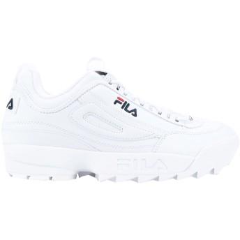 《セール開催中》FILA メンズ スニーカー&テニスシューズ(ローカット) ホワイト 10 紡績繊維 Disruptor low
