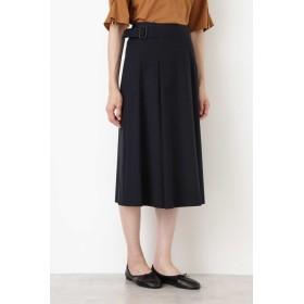 HUMAN WOMAN ピーチコットンツイル・ハイクールスカート ひざ丈スカート,ネイビー