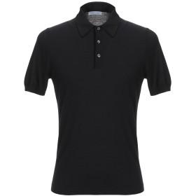 《セール開催中》GRAN SASSO メンズ ポロシャツ ブラック 46 コットン 100%