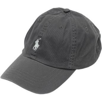 《期間限定 セール開催中》POLO RALPH LAUREN メンズ 帽子 鉛色 one size コットン 100% COTTON CHINO BASEBALL CAP