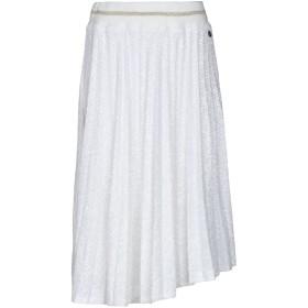 《期間限定セール開催中!》SOUVENIR レディース ひざ丈スカート ホワイト S ポリエステル 92% / ポリウレタン 8%