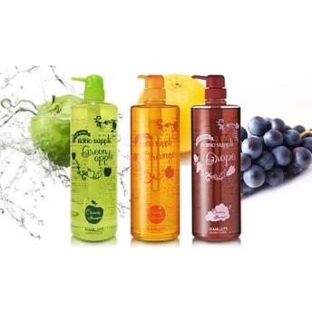 【選べる3種類/大容量1,000mL】髪と肌に優しいイオンのパワーで髪や頭皮の汚れを浮かしてすっきり洗い上げる《ナノサプリ クレンジング シャンプー 1,000mL》 ビューティー&コスメ ヘアケア シャンプー - 選択してください - グリーンアップル オレンジ グレープ au WALLET Market