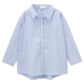 (MAC HOUSE/マックハウス)RETRO GIRL レトロガール オーバーシャツ SB191-WF018/レディース ネイビー