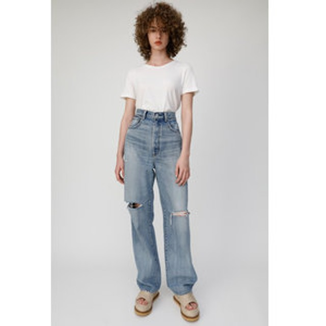 【MOUSSY:パンツ】HIGH WAIST LOOSE STRAIGHT