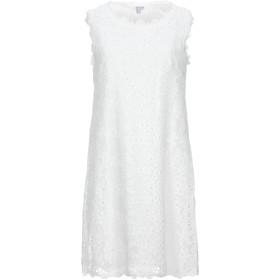 《期間限定セール開催中!》BRIGITTE BARDOT レディース ミニワンピース&ドレス ホワイト 0 コットン 100%