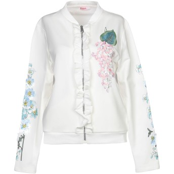 《セール開催中》BLUGIRL BLUMARINE レディース スウェットシャツ ホワイト 38 コットン 95% / ポリウレタン 5%