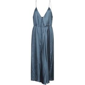 《期間限定 セール開催中》MASSCOB レディース 7分丈ワンピース・ドレス ブルー M コットン 52% / シルク 48%
