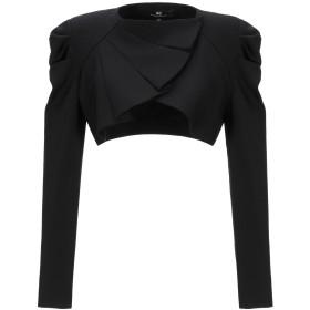 《期間限定セール開催中!》ELISABETTA FRANCHI レディース テーラードジャケット ブラック 42 ポリエステル 53% / ウール 43% / ポリウレタン 4%