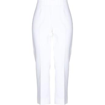 《セール開催中》CAPPELLINI by PESERICO レディース パンツ ホワイト 42 コットン 99% / ポリウレタン 1%