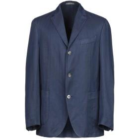 《期間限定セール開催中!》BOGLIOLI メンズ テーラードジャケット ダークブルー 52 コットン 52% / 麻 48%