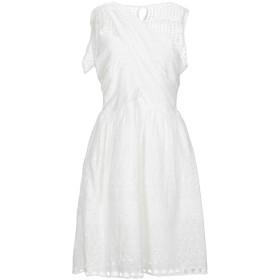 《期間限定セール開催中!》BRIGITTE BARDOT レディース ミニワンピース&ドレス ホワイト 0 コットン 90% / ポリエステル 10%