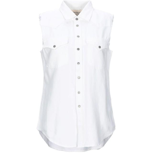 《セール開催中》DIESEL レディース シャツ ホワイト XS コットン 56% / 麻 44%