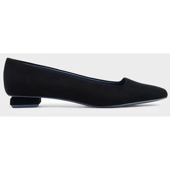 【2019 FALL】スクエアトゥ バレリーナフラット / Square Toe Ballerina Flats (Black)