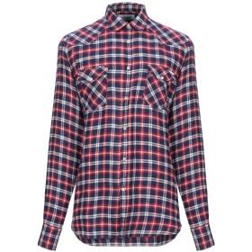 《期間限定 セール開催中》AGLINI メンズ シャツ ブルー 41 麻 100%