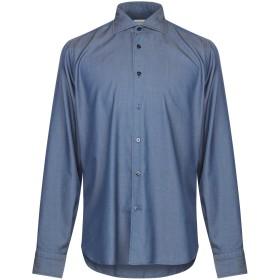 《期間限定セール開催中!》BORRIELLO NAPOLI メンズ デニムシャツ ブルー 38 コットン 100%