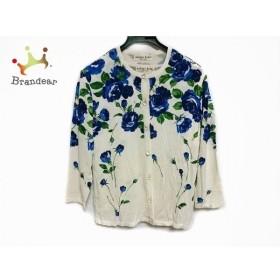 ユキコハナイ YUKIKO HANAI アンサンブル サイズ9A レディース 白×ネイビー×グリーン 花柄  値下げ 20190928