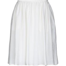 《期間限定セール開催中!》GIORGIO ARMANI レディース ひざ丈スカート ホワイト 40 レーヨン 68% / シルク 32%