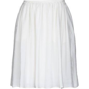《セール開催中》GIORGIO ARMANI レディース ひざ丈スカート ホワイト 42 レーヨン 68% / シルク 32%