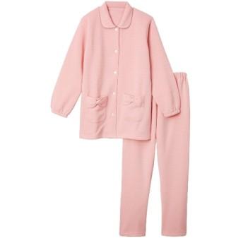 【WEB限定】裏起毛ドット柄前開きパジャマ上下セット (パジャマ・ルームウェア),Sleepwear