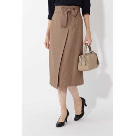NATURAL BEAUTY BASIC ブッチャーラップディテールナロースカート