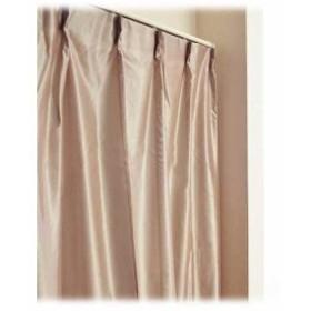 日本製 アルミ蒸着 防炎 UVカット ミラーレースカーテン「無地 プレーン」ブラウン 100×108cm2枚組(ブラウン)