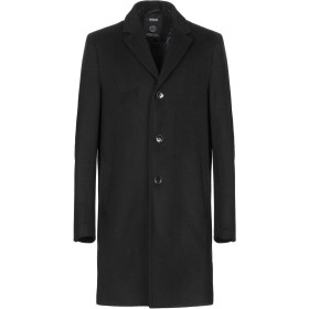 《期間限定セール開催中!》!SOLID メンズ コート ブラック L ポリエステル 50% / ウール 50%