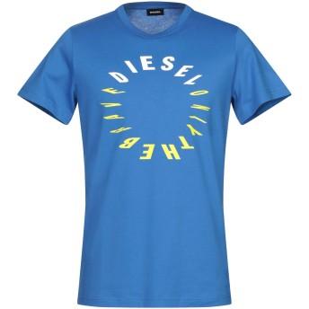 《9/20まで! 限定セール開催中》DIESEL メンズ T シャツ ブルー L コットン 100%