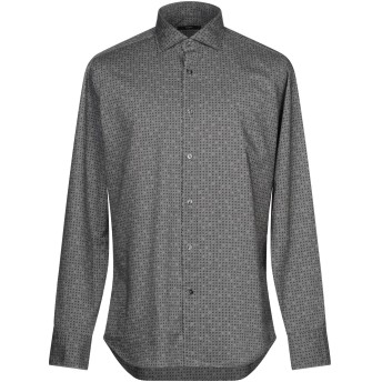 《期間限定 セール開催中》DANDI メンズ シャツ 鉛色 41 コットン 100%