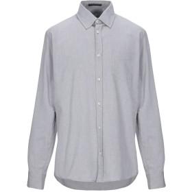 《期間限定セール開催中!》SIVIGLIA メンズ シャツ ライトグレー L コットン 100%