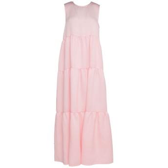 《セール開催中》P.A.R.O.S.H. レディース ロングワンピース&ドレス ライトピンク S ポリエステル 75% / ナイロン 15% / シルク 10%