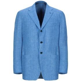 《期間限定セール開催中!》KITON メンズ テーラードジャケット アジュールブルー 56 シルク 45% / ウール 30% / 麻 25%