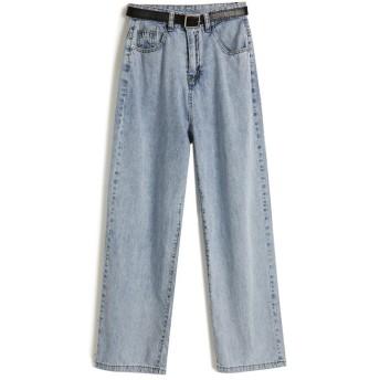 夏も使える♪♪ 限定SALE 韓国ファッション デニムワイドレッグパンツ 日焼け止め 細い ゆったり カジュアル 9分丈 女性