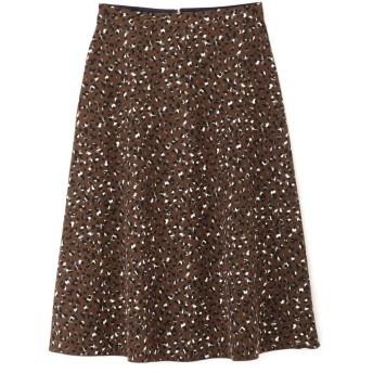 【公式/NATURAL BEAUTY BASIC】[洗える]2WAYリバーシブルアニマルプリントスカート/女性/スカート/ブラウン系×ネイビー/サイズ:M/(表側)ポリエステル 100%(裏側)ポリエステル 100%