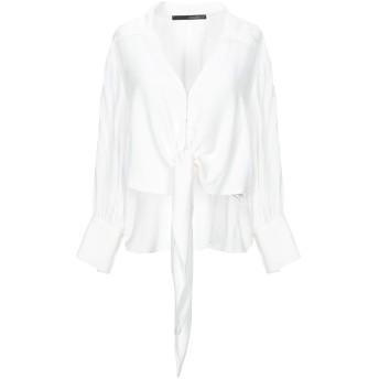 《セール開催中》ANNARITA N レディース シャツ ホワイト 40 アセテート 75% / シルク 25%