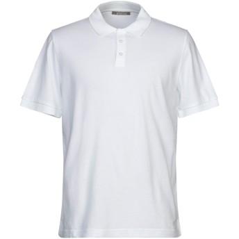 《期間限定セール開催中!》ANDREA FENZI メンズ ポロシャツ ホワイト 50 コットン 100%