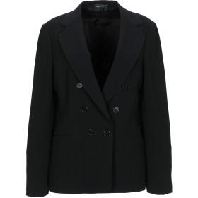 《期間限定セール開催中!》ASPESI レディース テーラードジャケット ブラック 46 トリアセテート 70% / ポリエステル 30%