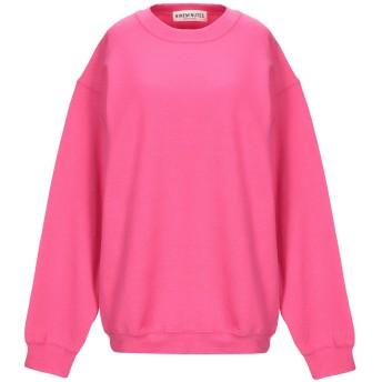 《セール開催中》NINEMINUTES レディース スウェットシャツ フューシャ M コットン 50% / ポリエステル 50%