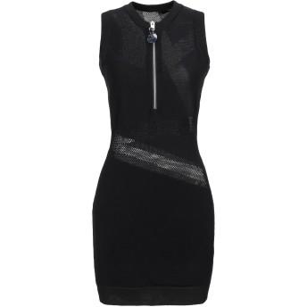 《セール開催中》DIESEL レディース ミニワンピース&ドレス ブラック XS レーヨン 65% / ナイロン 35%
