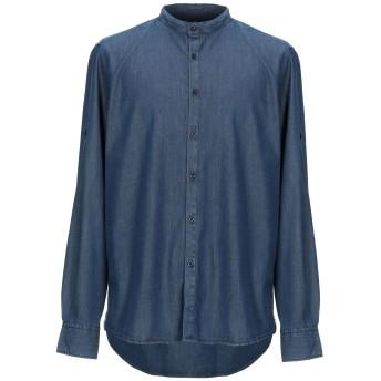 《期間限定セール開催中!》LIU JO MAN メンズ デニムシャツ ブルー XL テンセル 55% / コットン 43% / ポリウレタン 2%