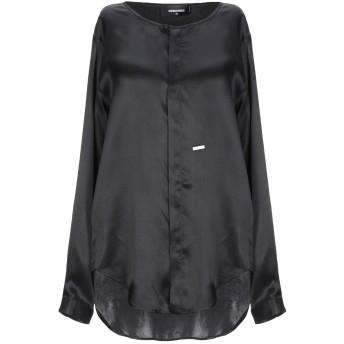 《セール開催中》DSQUARED2 レディース シャツ ブラック 38 シルク 100%