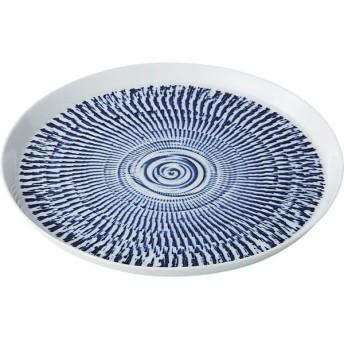西海陶器 14775 色染カンナ 21cmプレート 青