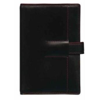 ミニ6穴サイズ システム手帳 ユナイト リング径11mm「ブラック×レッド」[125-500-20](黒ミニ6)