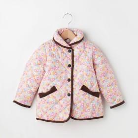 【シューラルー/SHOO・LA・RUE】 【90-130cm】花柄プリントキルトジャケット