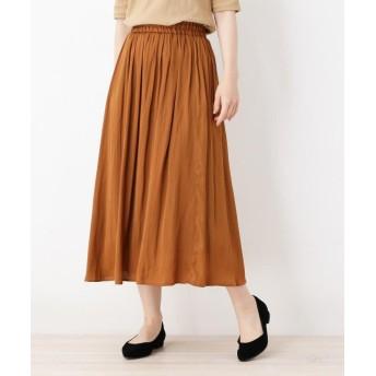 SHOO・LA・RUE/DRESKIP(シューラルー/ドレスキップ) ナイルサテンギャザースカート