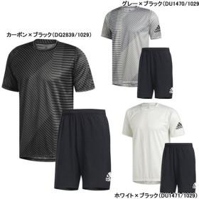 サッカー フットサル プラクティス上下セット プラシャツ プラパン アディダス adidas グラフィックTシャツ ウーブンショーツ FSK38-FTL25