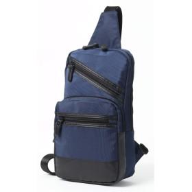 ボディバッグ メンズ 斜めがけ ショルダーバッグ 肩掛け ワンショルダー 防水 軽量 左右肩掛け - ブルー